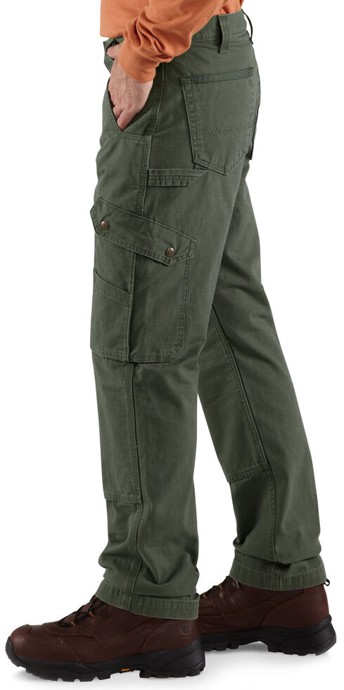 Carhartt Ripstop Cargo Work Pants, Moss, hi-res
