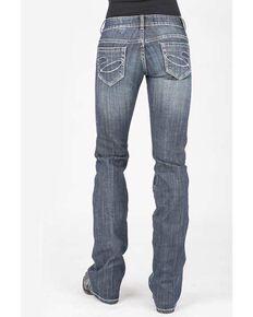Stetson Women's 818 Contemporary Bootcut Jeans, Blue, hi-res