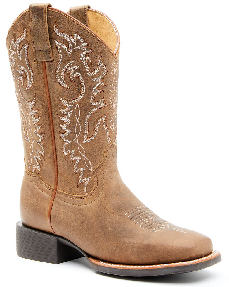 Shyanne Women's Shayla Tan Performance Western Boots - Square Toe, Tan, hi-res