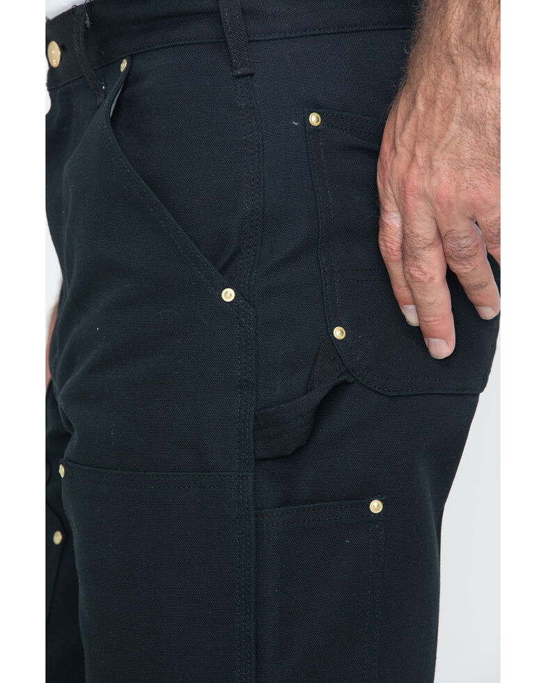 Carhartt Double Duck Dungaree Fit Khaki Work Jeans - Big, Black, hi-res