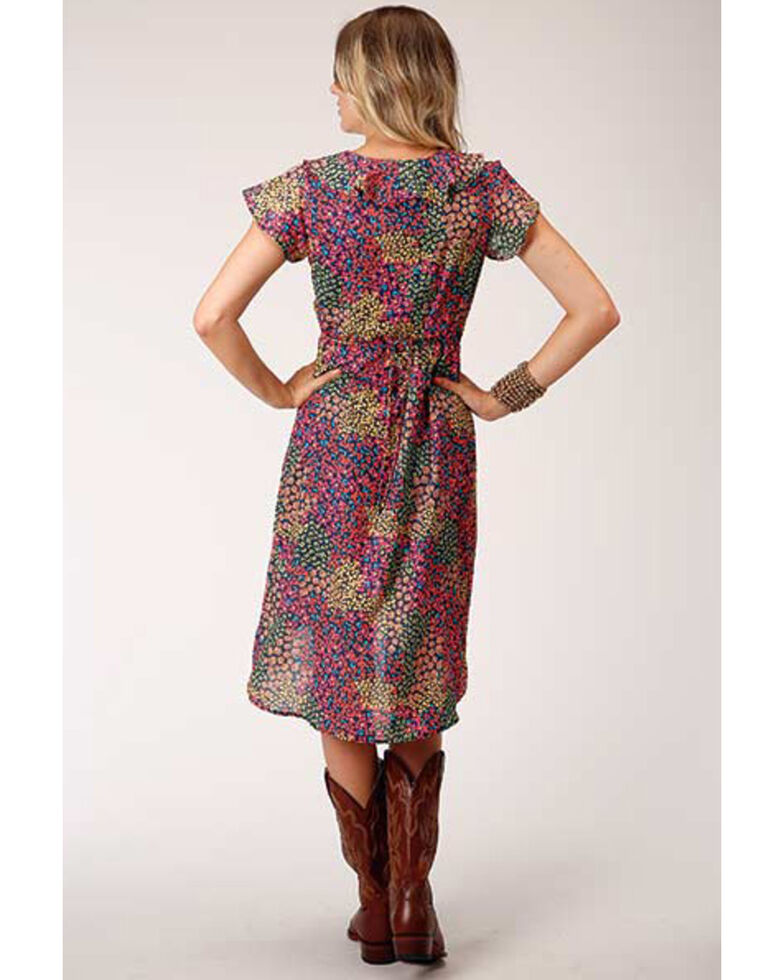 Roper Women's Floral Georgette Dress, Multi, hi-res