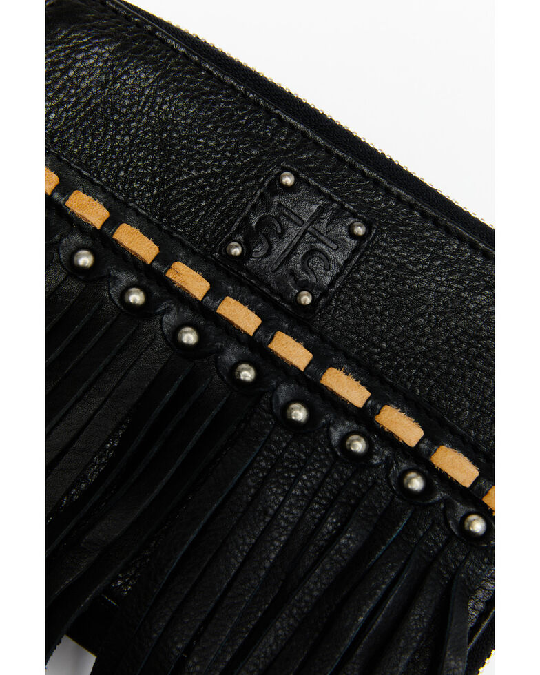 STS Ranchwear Women's Fringe Package Crossbody Bag, Black, hi-res