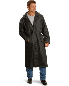 Outback Pak-A-Roo Waterproof Duster, Black, hi-res