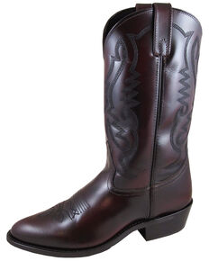 Smoky Mountain Men's Denver Cherry Western Boots - Medium Toe, Black Cherry, hi-res