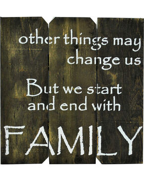 "BB Ranch ""Family"" Wooden Sign, No Color, hi-res"