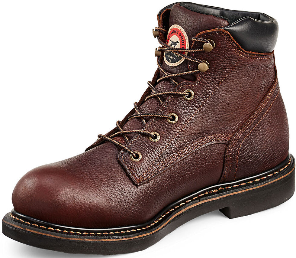 """Irish Setter by Red Wing Shoes Men's Farmington 6"""" Work Boots - Round Toe  , Brown, hi-res"""
