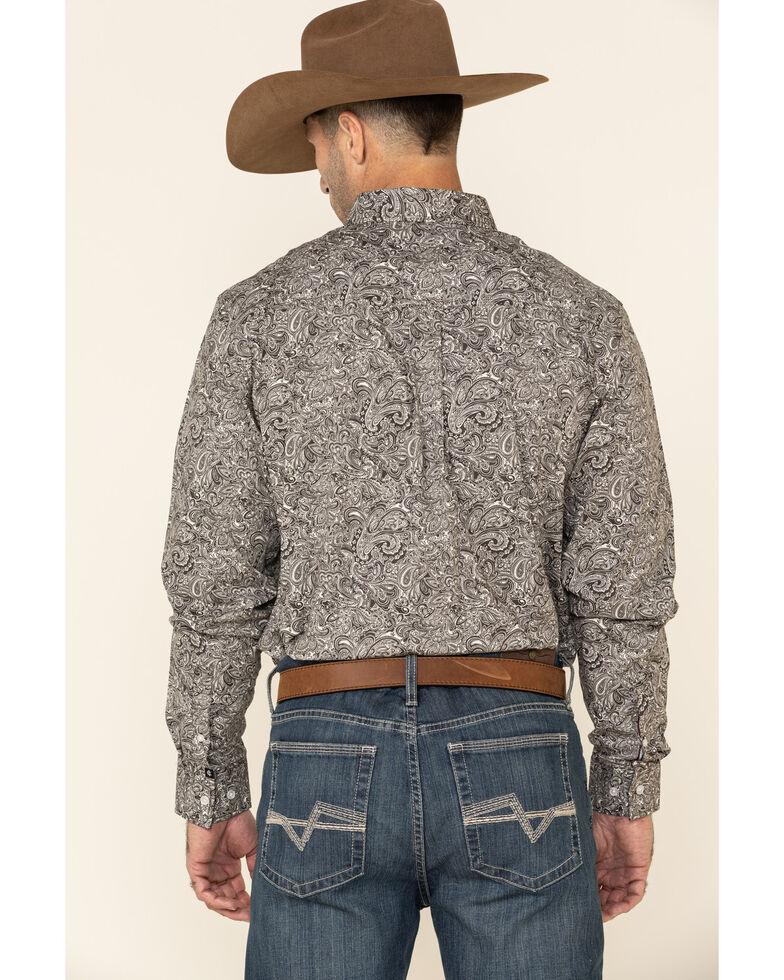Cody James Core Men's Hawkins Large Paisley Print Long Sleeve Western Shirt - Tall , Brown, hi-res