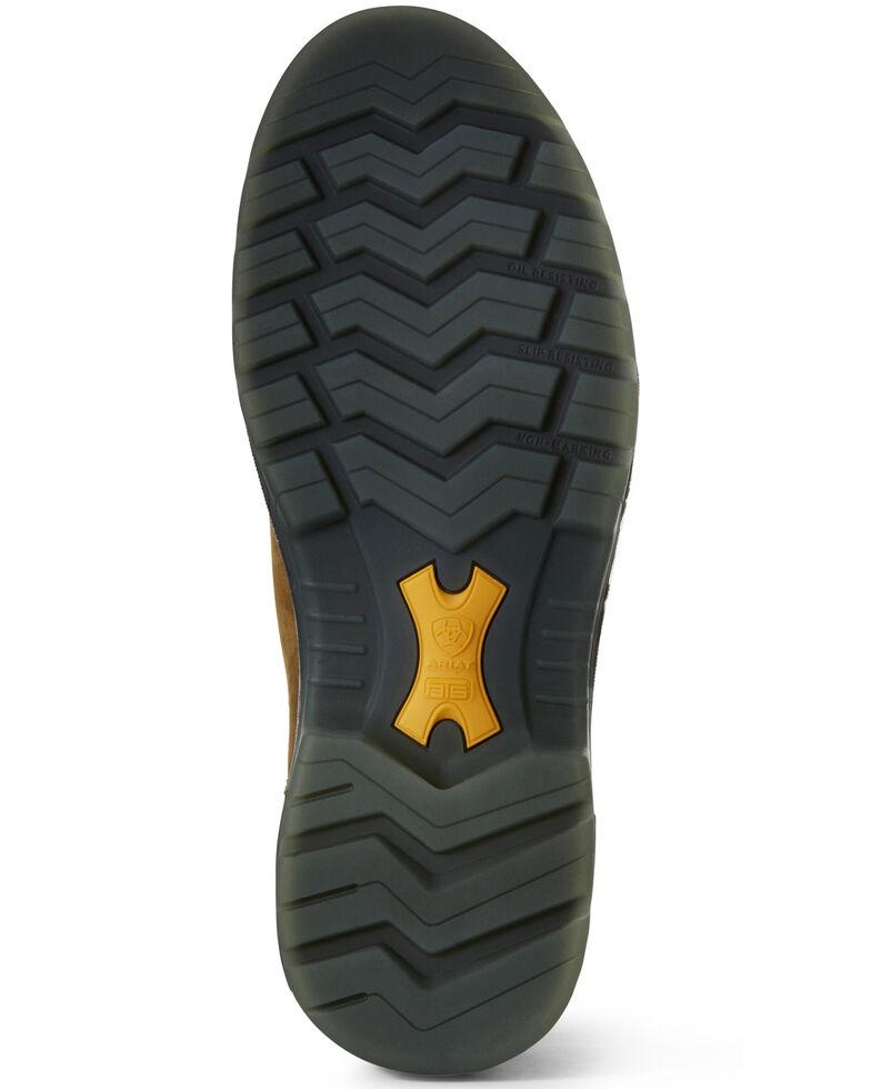 Ariat Men's Turbo Chelsea Waterproof Work Boots - Carbon Toe, Brown, hi-res