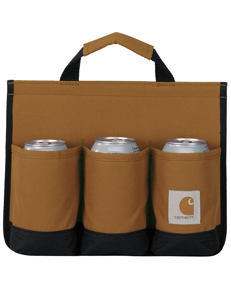 Carhartt Brown Insulated 6-Pack Work Caddy , Brown, hi-res