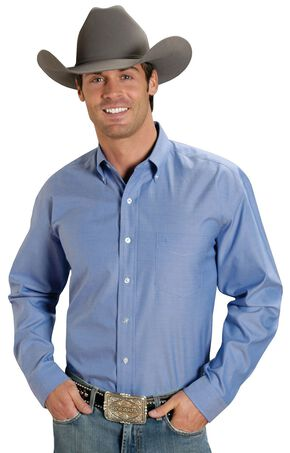 Stetson Solid Button Oxford Shirt, Blue, hi-res