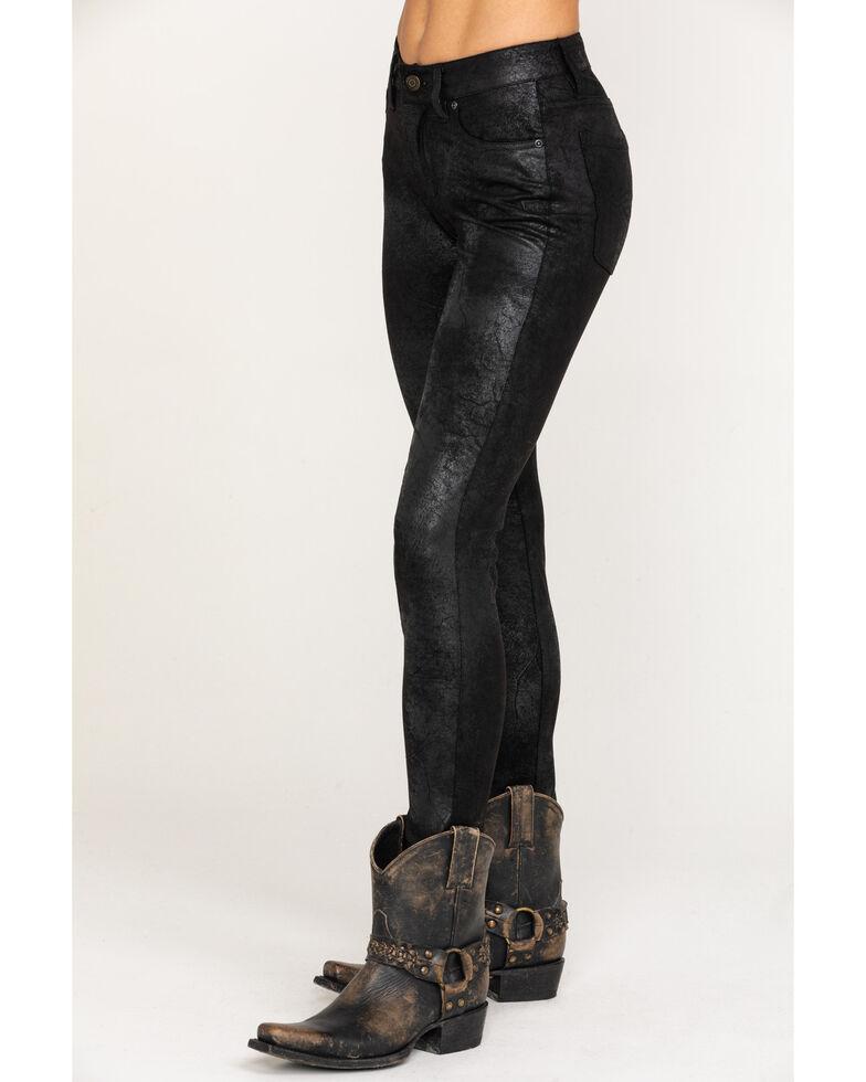 Idyllwind Women's Rock N Roll Faux Leather Jean, Black, hi-res