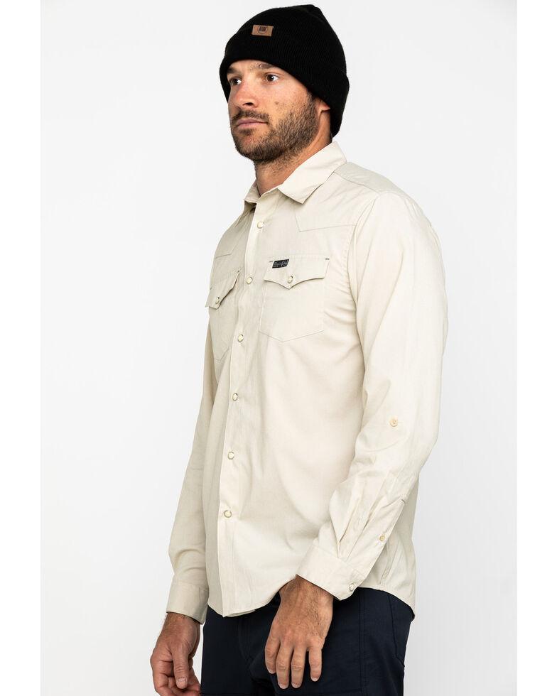 ATG By Wrangler Men's Khaki Utility Long Sleeve Western Shirt , Beige/khaki, hi-res