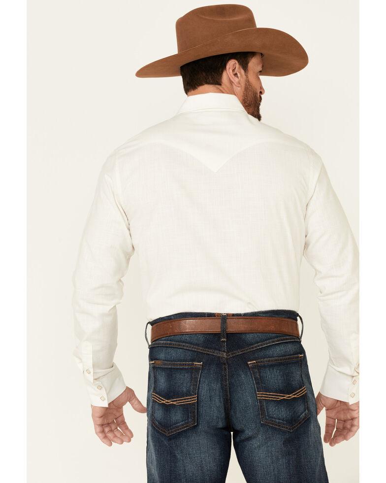 Rock & Roll Denim Men's Solid Natural Chambray Long Sleeve Snap Western Shirt , Natural, hi-res