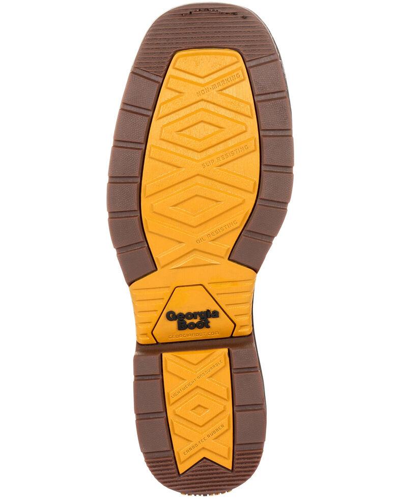 Georgia Boot Men's Carbo-Tec LT Waterproof Western Work Boots - Steel Toe, Black/brown, hi-res