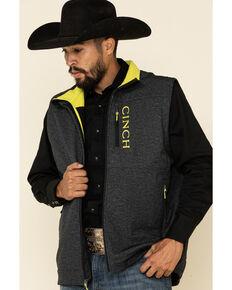 Cinch Men's Charocoal Logo Textured Bonded Concealed Carry Vest , Charcoal, hi-res