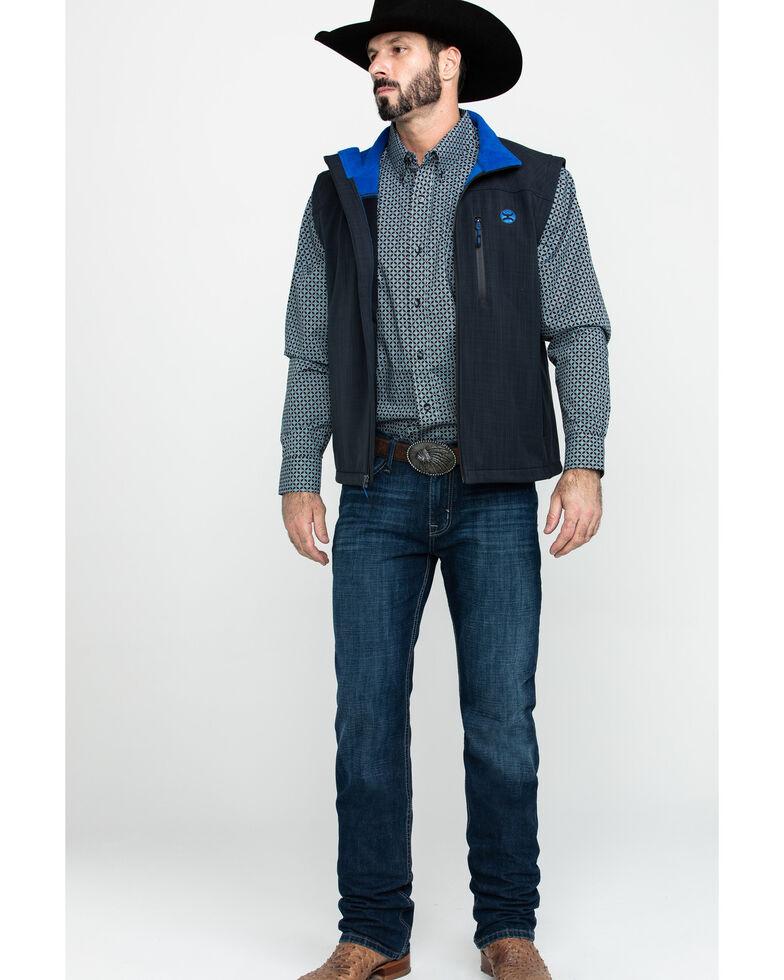HOOey Men's Black Soft-Shell Vest, Black, hi-res