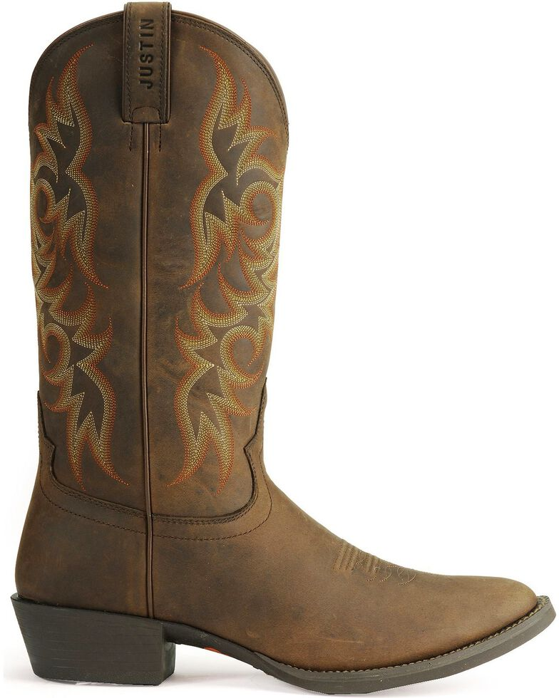 Justin Stampede Western Apache Cowboy Boot - Medium Toe, Sorrel, hi-res