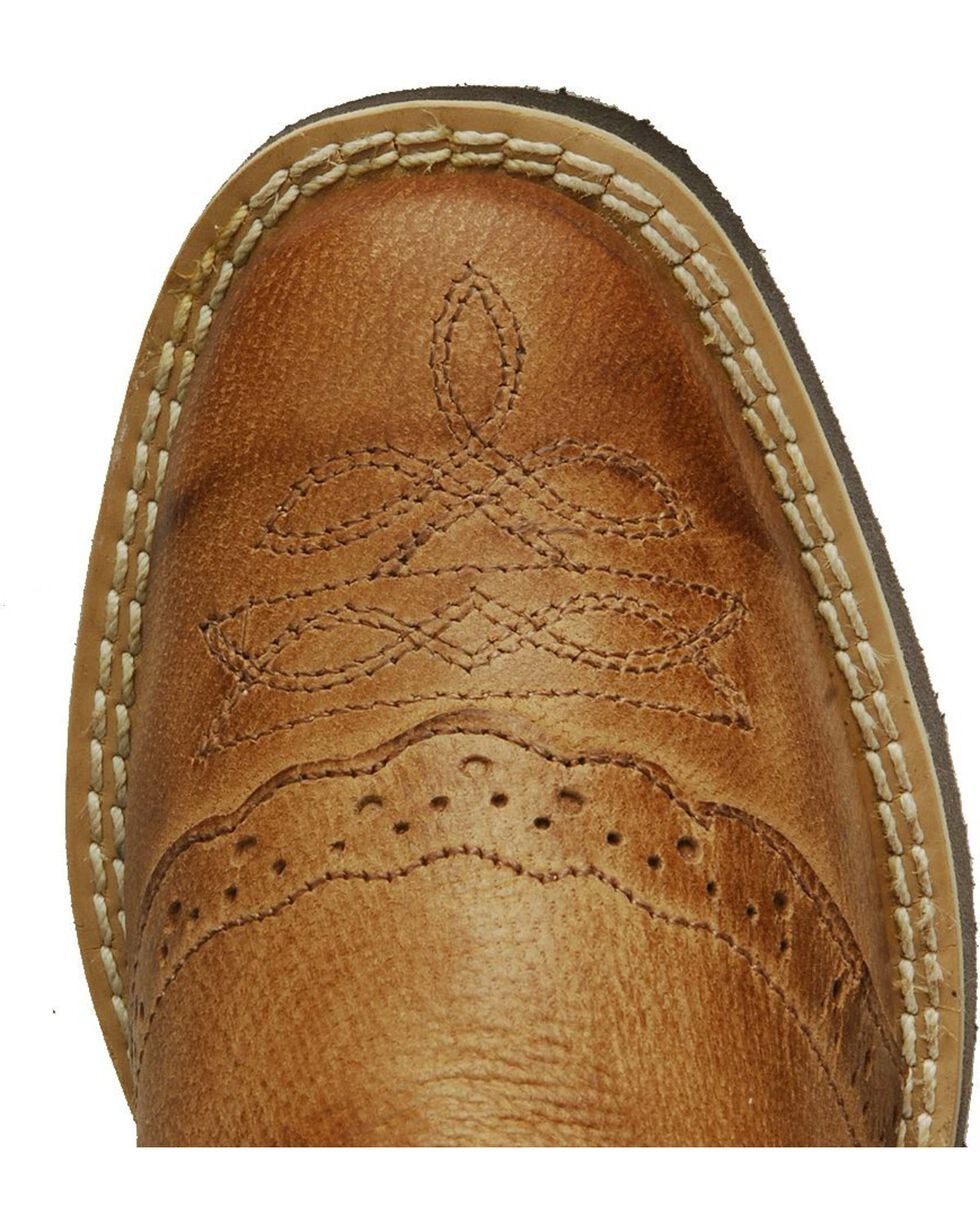 Old West Children Boys' Crepe Sole Cowboy Boots, Tan, hi-res