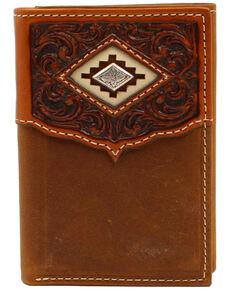 Ariat Men's Brown Trifold Medium Wallet, Brown, hi-res
