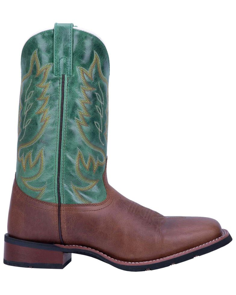 Laredo Men's Montana 2 Western Boots - Wide Square Toe, Green/brown, hi-res