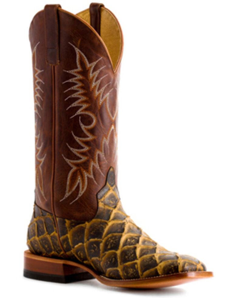 HorsePower Men's Filet To Fish Western Boots - Square Toe, Brown, hi-res