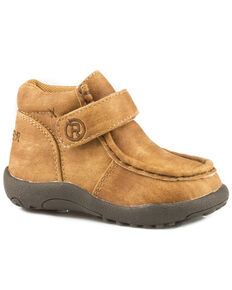 Roper Toddler Boys' Moc Tan Faux Leather Chukkas - Moc Toe, Tan, hi-res