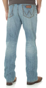 ac71456f Wrangler Retro Relaxed Fit Light Wash Boot Cut Jeans
