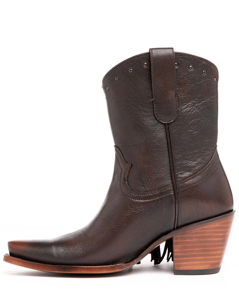 Idyllwind Women's Plaity Please Fashion Booties - Snip Toe, Brown, hi-res