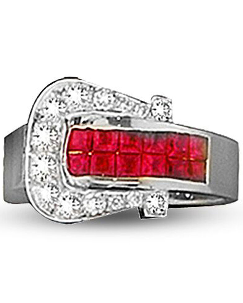 Kelly Herd Women's Red Buckle Ring , Red, hi-res