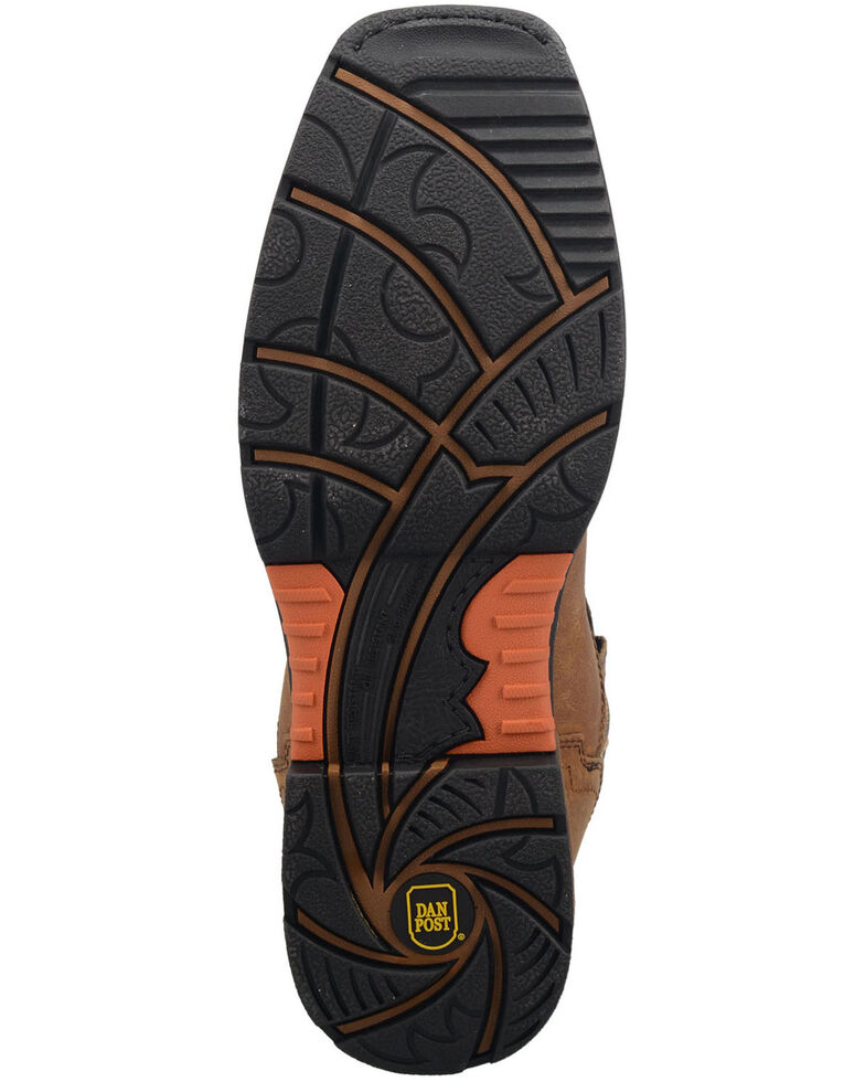 Dan Post Men's Storm Tide Waterproof Western Work Boots - Broad Square Toe, Tan, hi-res