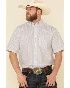 Ariat Men's Jollybrook Aztec Geo Print Short Sleeve Western Shirt - Big , White, hi-res