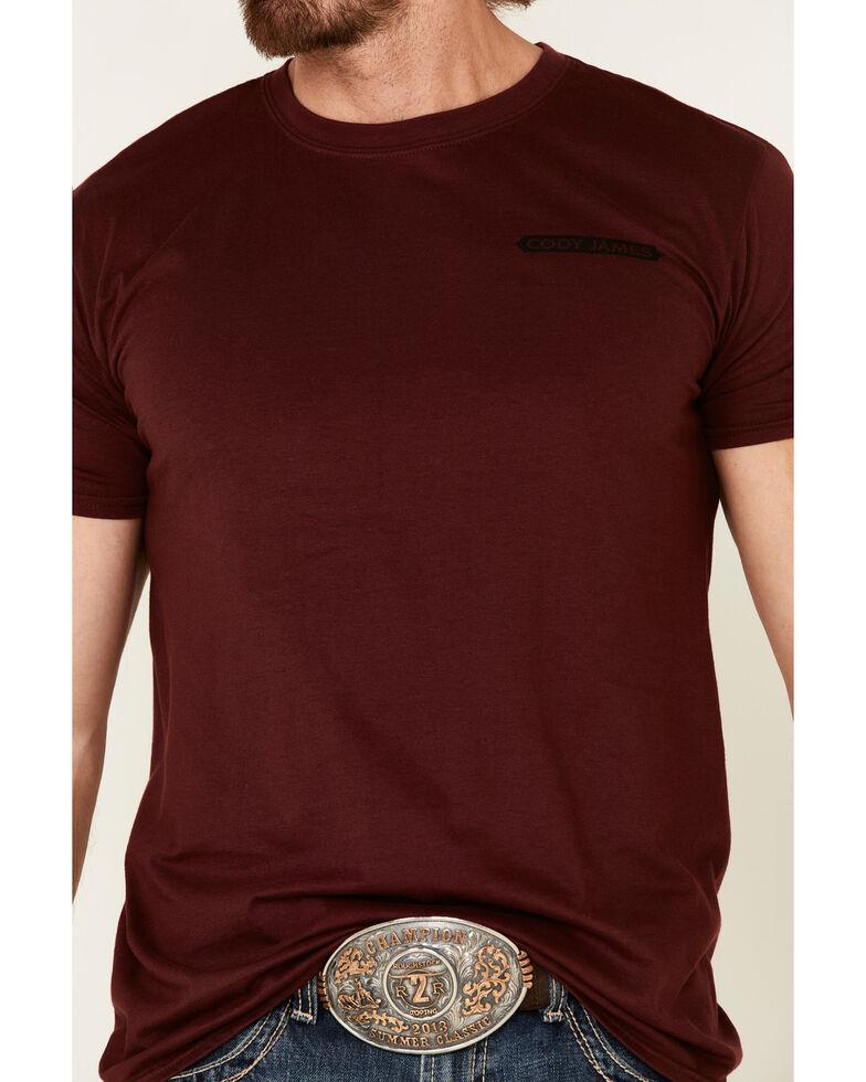 Cody James Men's Maroon Code Of The West Graphic T-Shirt , Maroon, hi-res