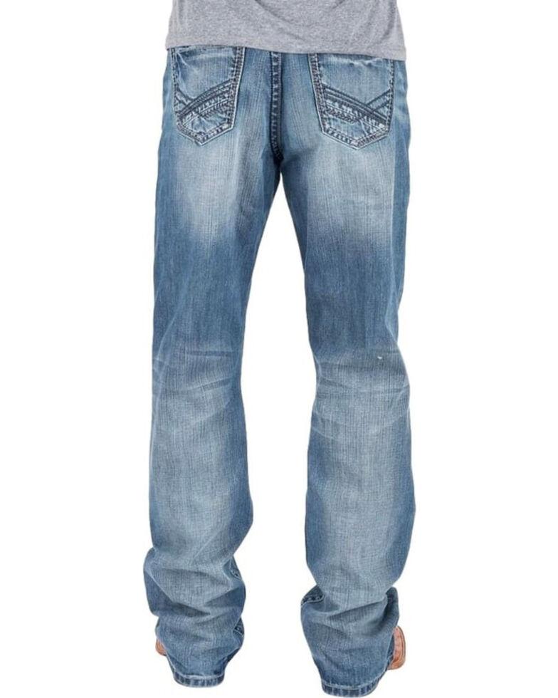 Tin Haul Men's Regular Joe Fit Light Wash Bootcut Jeans , Indigo, hi-res