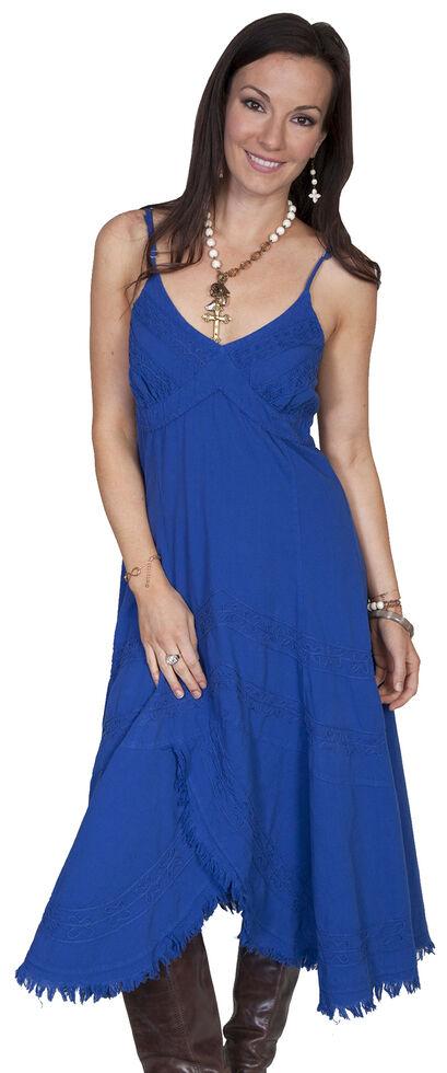 Scully Peruvian Cotton Dress, Blue, hi-res