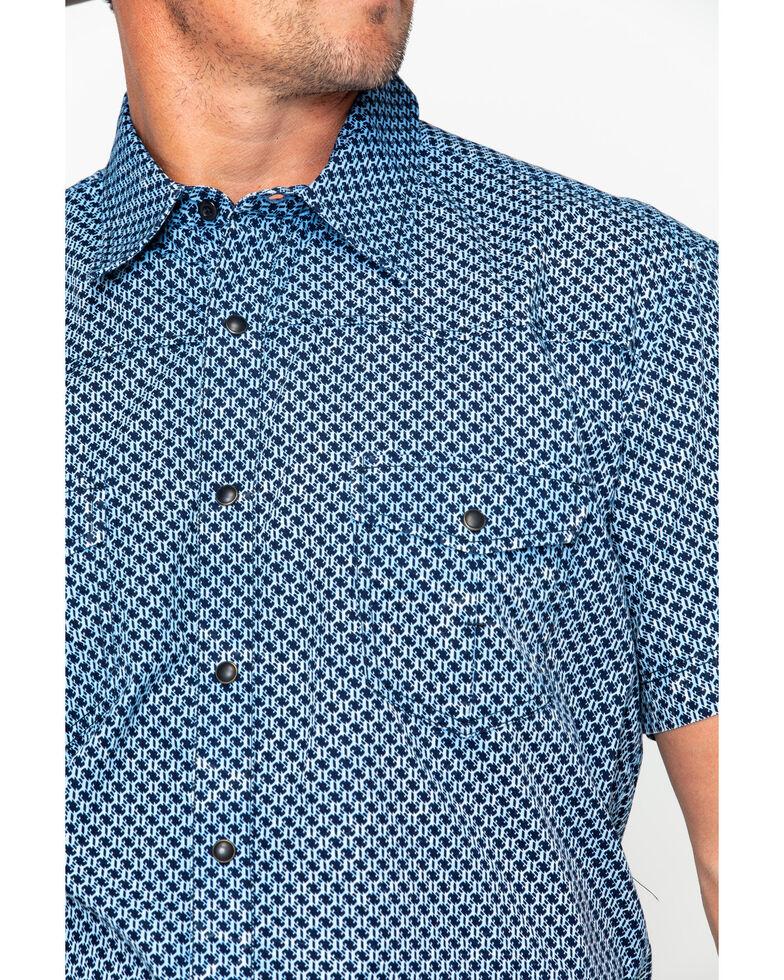 Rock & Roll Cowboy Men's Crinkle Washed Poplin Short Sleeve Western Shirt, Black, hi-res