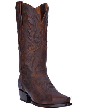 El Dorado Men's Bay Apache Leather Western Boots - Snip Toe, Dark Brown, hi-res