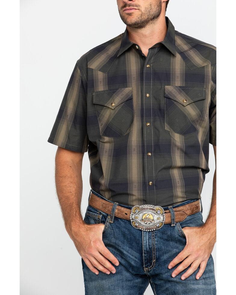 Pendleton Men's Brown Frontier Plaid Short Sleeve Western Shirt , Brown, hi-res