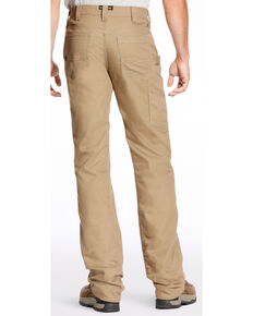 Ariat Men's Rebar M4 Stretch Canvas Utility Pants - Straight Leg , Beige/khaki, hi-res
