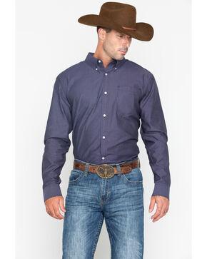 Cody Core Men's Purple Hazy Geo Print Long Sleeve Western Shirt , Purple, hi-res