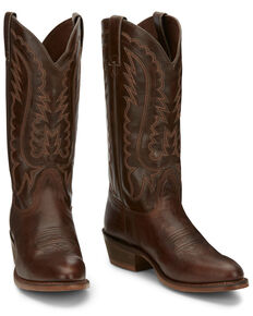 Nocona Men's Jackpot Brown Western Boots - Round Toe, Brown, hi-res