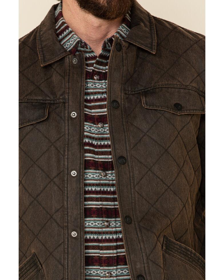 Moonshine Spirit Men's Ghost Town Quilted Oil Skin Jacket , Brown, hi-res