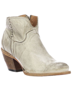 Lucchese Women's Ericka Fashion Booties - Round Toe, White, hi-res