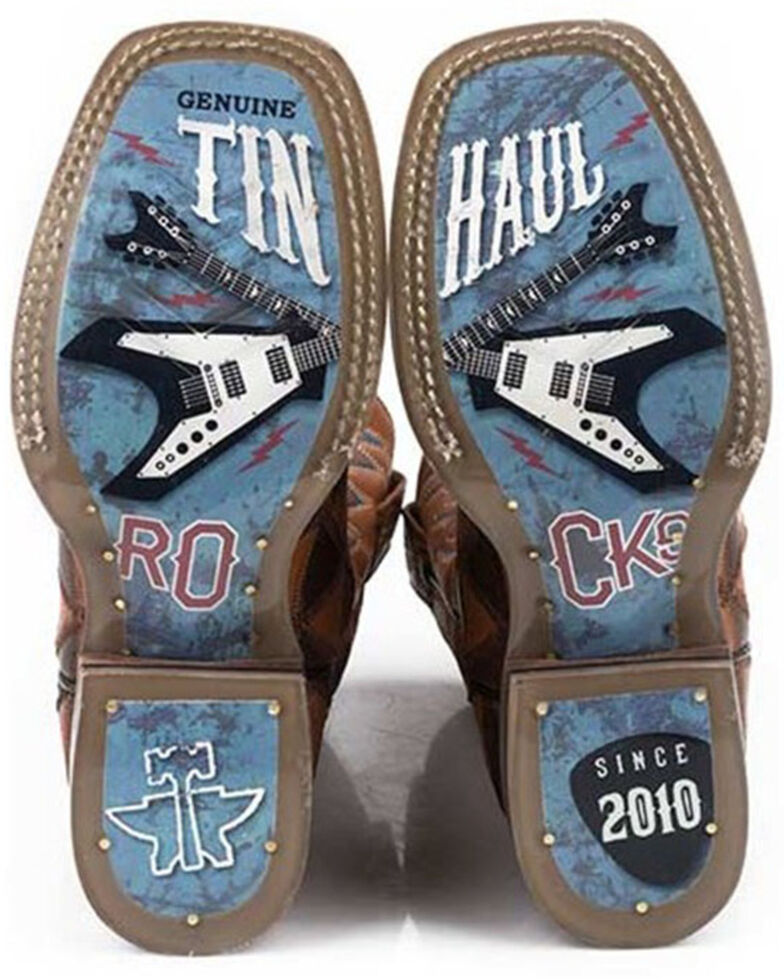 Tin Haul Boys' Rockstar Western Boots - Square Toe, Brown, hi-res