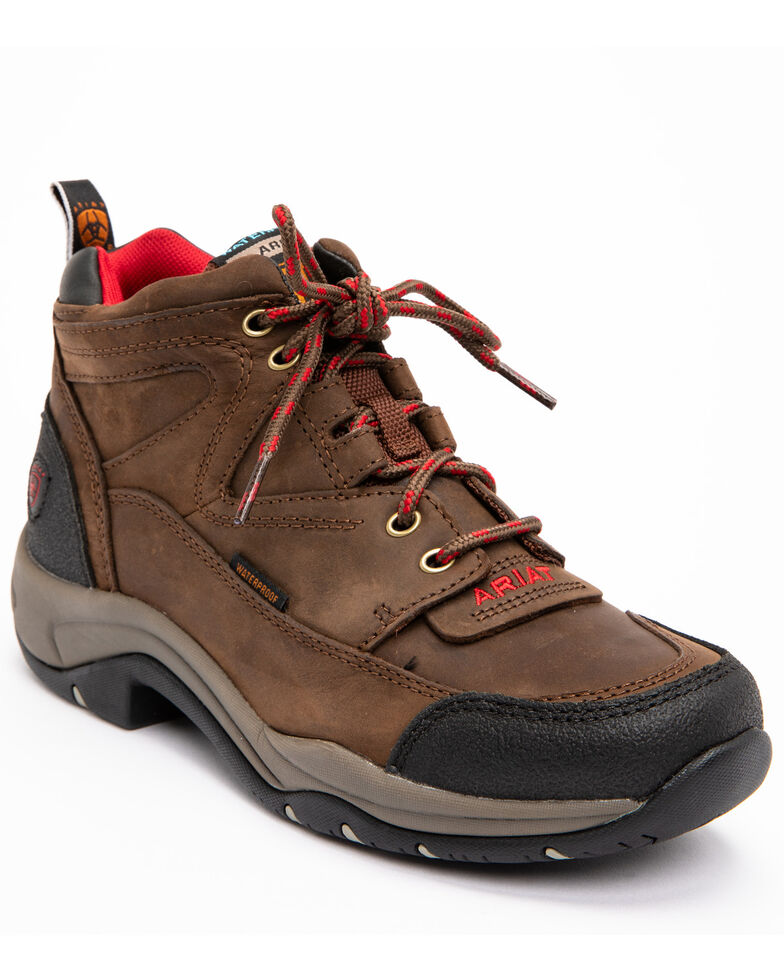 7434473d Zoomed Image Ariat Women's Terrain H2O Waterproof Boots - Round Toe, Brown,  hi-res