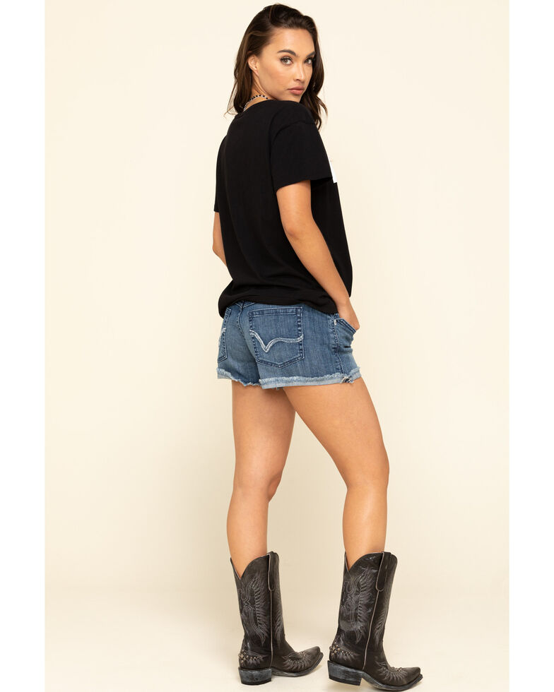 Ariat Women's Boyfriend Desperado Shorts, Blue, hi-res