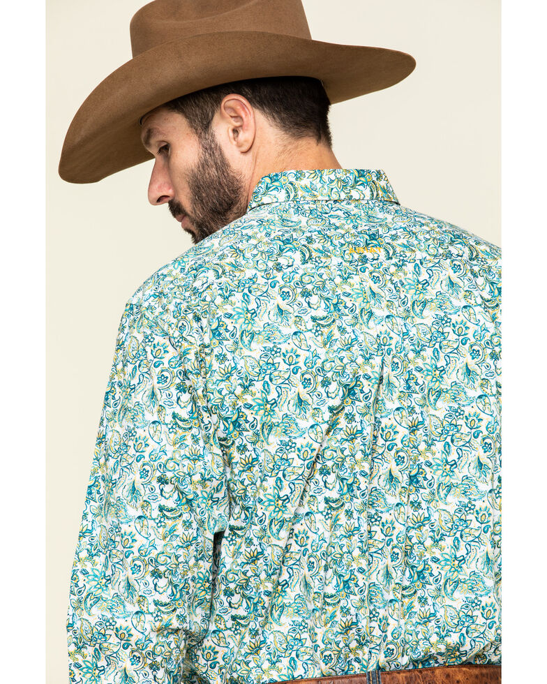 Ariat Men's Riverbank Stretch Paisley Print Long Sleeve Western Shirt , Multi, hi-res