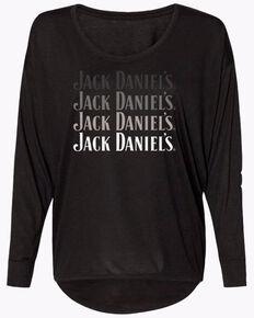 "Jacks Daniels Women's ""Jack Lives Here"" Black T-Shirt, Black, hi-res"