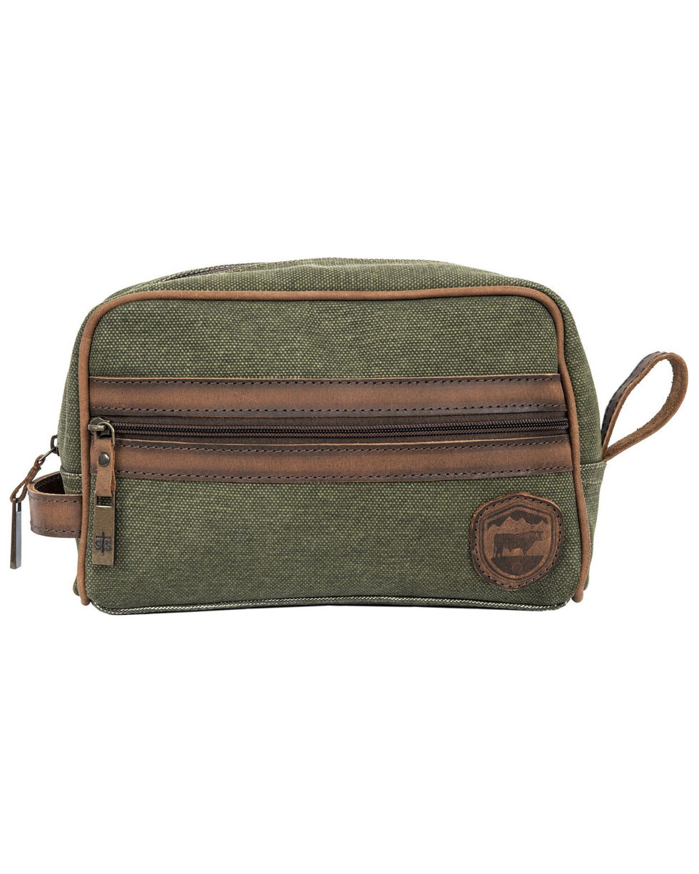 STS Ranchwear Men's Military Green Canvas Shave Kit, Green, hi-res