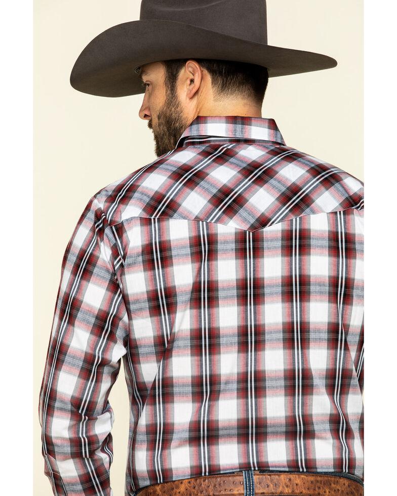 Ely Cattleman Men's Burgundy Large Plaid Long Sleeve Western Shirt , Burgundy, hi-res