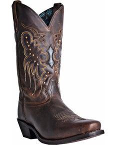 Laredo Cora Cowgirl Boots - Square Toe, Burgundy, hi-res